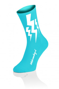 4x Winaar Lightning Socks - Fluo Blue