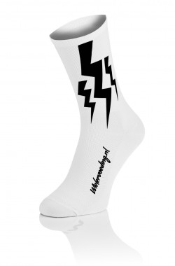 4x Winaar Lightning Socks - White